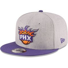 f030c9974d6 Phoenix Suns New Era 2-Tone 9FIFTY Adjustable Snapback Hat - Heathered  Gray Purple