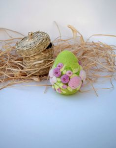 Needle felted eggs easter decorations easter gift needle felted needle felted eggs easter decorations easter gift needle felted egg felt blue ornament daffodils negle Gallery