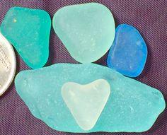 Sea Glass or Beach Glass of Hawaii  HEART by SeaGlassFromHawaii