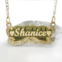 Gold Name Necklace  18k Gold Plated Any Name by newyorkcustommade