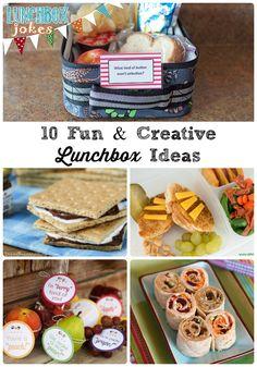 10 Fun & Creative Lunchbox Ideas via thefrugalfoodiemama.com #backtoschool
