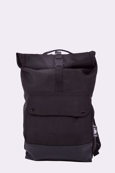 Capacious, average size backpack, inspired by products made for bicycle messengers. Designed for everyday city use. Roll top is additional space
