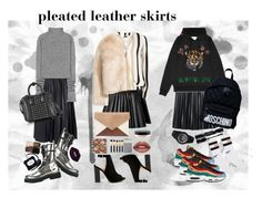 """pleated leather skirts"" by jooseefiinee ❤ liked on Polyvore featuring Theory, David Koma, J.Crew, Acne Studios, Dorothy Perkins, Gucci, Vetements, NIKE, Bamboo and Dolce&Gabbana"