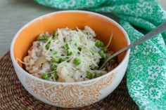 Delicious Italian early sping recipe of rice and green peas! Enjoy! #vegelicacy