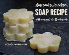 Slowcooker Crockpot Basic Soap Recipe with coconut oil and olive oil Basic Slow Cooker Soap Recipe