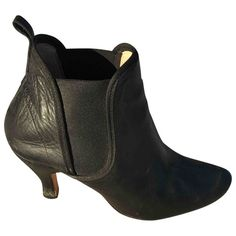 REPETTO \N BLACK LEATHER ANKLE BOOTS. #repetto #shoes