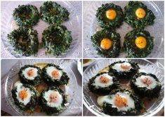 Baked Eggs with Spinach Home Recipes, Diet Recipes, Turkish Recipes, Ethnic Recipes, A Food, Food And Drink, Easy Meals, Yummy Food, Favorite Recipes