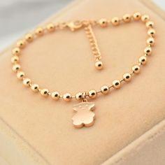 Jewelry Design Earrings, Gold Earrings Designs, Beaded Jewelry, Jewelry Accessories, Baby Jewelry, Girls Jewelry, Kids Bracelets, Jewelry Bracelets, Baby Schmuck