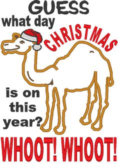 Funny Camel Hump Day Christmas Card | Zazzlers Christmas Cards ...