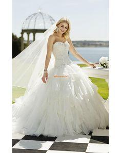 Princesse Lacets Naturel Robes de mariée Designer