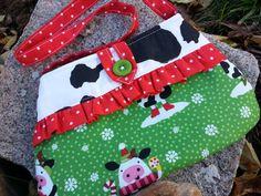 Cow Christmas Purse, Little Girl's  Purse