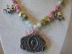 Handcarved Dragon Eye Pendant Beaded by DeanasQuiltsandMore, $75.00