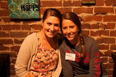 Alumni Kelsey Madden and Abby Black at Bonlife Coffee gathering 2012