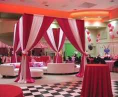 backdrop using party plates carnival - Google Search