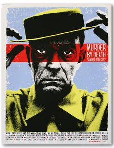 Murder By Death summer tour 2012 poster. Excellent band and an excellent poster by Lastleaf Printing.