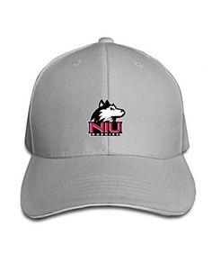 4d59708c2b5fb Ash 101dog Northern Illinois University Unisex Adjustable Sandwich Peaked Hat  Cap Black DIY Cap Northern Illinois