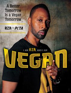 """Wu-Tang's RZA chooses to leave animals off his plate, knowing that going vegan makes for """"a better tomorrow."""""""