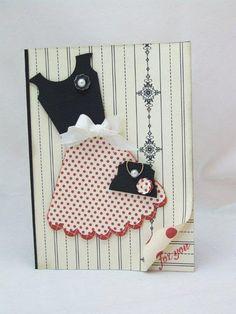 Super cute dress card, outside
