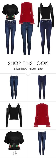 """""""Bogs"""" by rebecca-wengle on Polyvore featuring Topshop, 7 For All Mankind, MSGM and Mother of Pearl"""