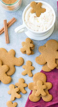This is our favorite gingerbread cookie recipe. We make these healthier spiced cookies every year at the holidays! This is our favorite gingerbread cookie recipe. We make these healthier spiced cookies every year at the holidays! Ginger Bread Cookies Recipe, Ginger Cookies, Yummy Cookies, Cookie Recipes, Flour Recipes, Baking Recipes, Holiday Baking, Christmas Baking, Healthy Gingerbread Cookies