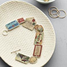 Shrinky Dink Bracelet {DIY Jewelry} - (apparently you can print right onto the shrinky dink paper. )