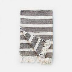 Organic Cotton Tea Towels - Grey Stripes: Remodelista