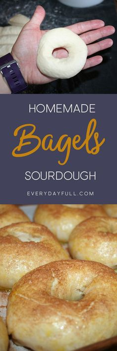 Homemade Sourdough Bagel Recipe Pinterest Pin