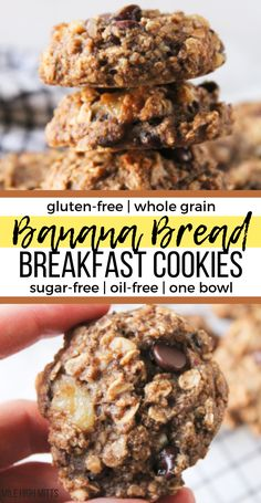 Looking for fun breakfast ideas for your kids These healthy, easy Banana Bread B. Looking for fun breakfast ideas for your kids These healthy, easy Banana Bread Breakfast Cookies ar Breakfast And Brunch, Best Breakfast, Fun Breakfast Ideas, Sugar Free Breakfast, Clean Breakfast, Quick And Easy Breakfast, Breakfast Cookie Recipe, Healthy Breakfast Recipes, Brunch Recipes