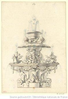 Versailles, parc : projet de fontaine pour le Bassin de la Pyramide.