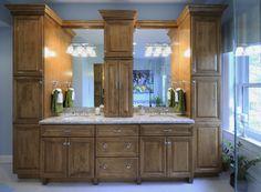 double vanity cabinet design