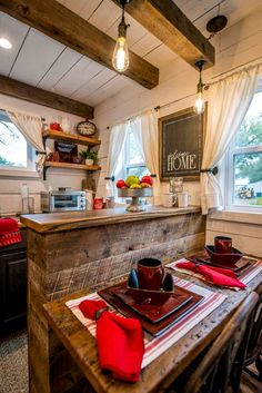 "Cozy Cabin ""Little Red Hen"" 12 min to Magnolia - Tiny houses for Rent in Waco, Texas, United States Tiny House Rentals, Vacation Home Rentals, Tiny House Cabin, Tiny House Design, Tiny Cabins, Cabin Interiors, Wood Interiors, Lofts, Tiny Houses For Rent"