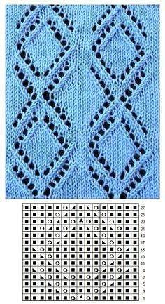Фотография Lace Knitting Stitches, Cable Knitting Patterns, Knitting Charts, Knitting Designs, Knit Patterns, Baby Knitting, Stitch Patterns, Filet Crochet, Crochet Motif