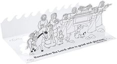 Amazon.com: Color Your Own 3D Crossing The Jordan River Craft Kit - Crafts for Kids and Fun Home Activities : Toys & Games