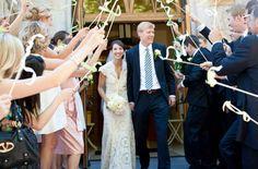 ribbon wand wedding exit