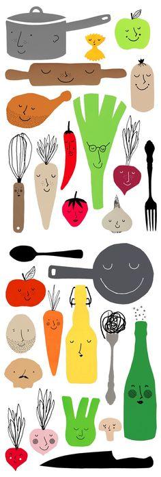 Branding for food blog 'Matmisjonen.no' by Katinka Pisani and Commando Group