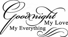 Wall Quote Goodnight My Love, My Everything Vinyl Wall Quote