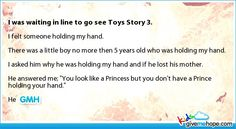 Cute kids - I was waiting in line to go see Toys Story Happy Stories, Sweet Stories, Cute Stories, Beautiful Stories, Heart Touching Story, Touching Stories, Cute Quotes, Funny Quotes, Love Gives Me Hope