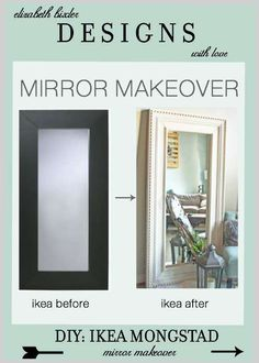 turn a modern floor mirror to a beautiful decorative mirror