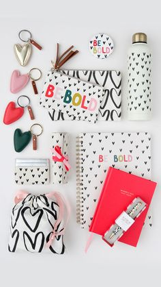 Our new ranges are now available online and in store! Discover our latest collection 'Be Bold' which pairs our iconic hearts with leopard print and rainbow colours to make a bold, modern statement. Book Stationery, Stationary, Cute Spiral Notebooks, Paper Place, Business Chic, Appreciation Gifts, Planner, Graphic Design Posters, Creative Crafts