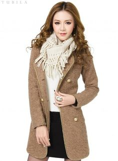Korean Style Round Collar Double Breasted Long Coat--Click the picture can place an order,we support wholesale outerwear. #shoes #wholesale #fashion #lovely #cheap #Korean #dress #sexy #clothes