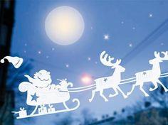 <p><h2>Fensterbilder zu Weihnachten</h2></p><p><b>Santa Claus im Rentierschlitten</b></p><p>Rentiere ziehen, der Sage nach, den Schlitten vom Weihnachtsmann, mit dem er durch die Luft fliegt. Mit diesem traditionellen Fensterbild schaffen Sie eine festlic