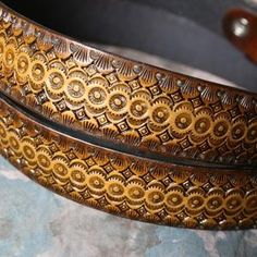 Hand tooled leather belt.  Made by Armadillo Leather on scottsmarketplace and etsy.