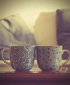 Tea with your special someone on Saturday morning <3