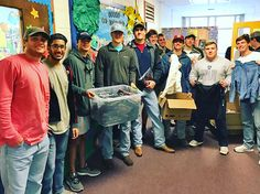 Brother of Troy University's Sigma Chi chapter visited Head Start in Troy to donate 150 coats to the students. The fraternity has been volunteering at the school throughout the semester. #TROYUspirit