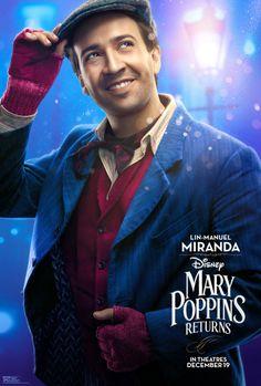 Mary Poppins Returns - Lin-Manuel Miranda as Jack Disney Pixar, Walt Disney, Disney Films, Disney Love, Disney Magic, Emily Blunt, Ben Whishaw, Hamilton Musical, Into The Woods
