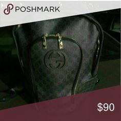 Gucci bookbag Black original print Bags Backpacks