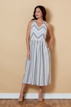 Introducing Lisette for Butterick summer sundress with an interesting criss-crossed back detail. Princess Seam, How To Introduce Yourself, Gingham, Looks Great, Things To Think About, Summer Dresses, Swimwear, How To Wear, Clothes