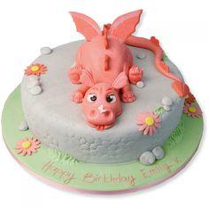 Pink Dragon Cake