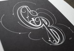 Letterpress wedding logo Photograph of print Lettering Design, Hand Lettering, Logo Design, Type Design, Wedding Logos, Monogram Wedding, Monogram Logo, Typography Letters, Typography Logo