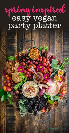 Site is undergoing maintenance Purple Spring Produce Vegan Party Platter. Celebrate spring with a charcuterie board full of the freshest fruits and veggies. Easy to make, comes together quick and totally steals the show! Vegan Foods, Vegan Snacks, Vegan Recipes, Vegan Apps, Healthy Snacks, Food Platters, Cheese Platters, Diy Party Platters, Aperitivos Vegan